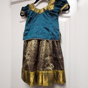 Traditional girl's Indian silk dress